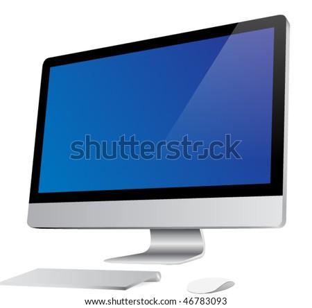 desktop computer images. vector : Desktop computer