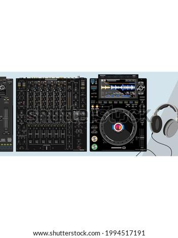 desktop dj set consisting of
