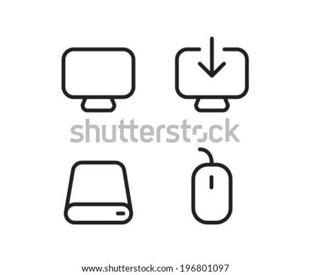desktop drive mouse outline
