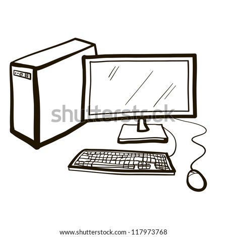 Desktop PC. A children's sketch