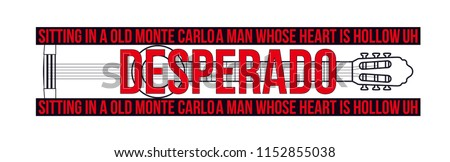 desperado vector slogan