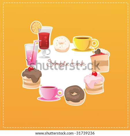 dessert and drinks background