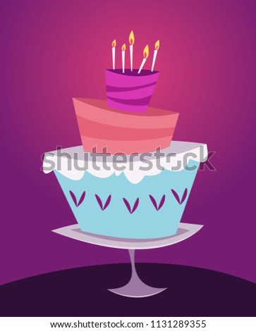 dessert cakecartoon style