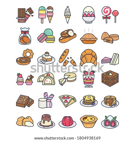 Dessert filled outline icon. vector illustration. Isolated on white background. Stok fotoğraf ©