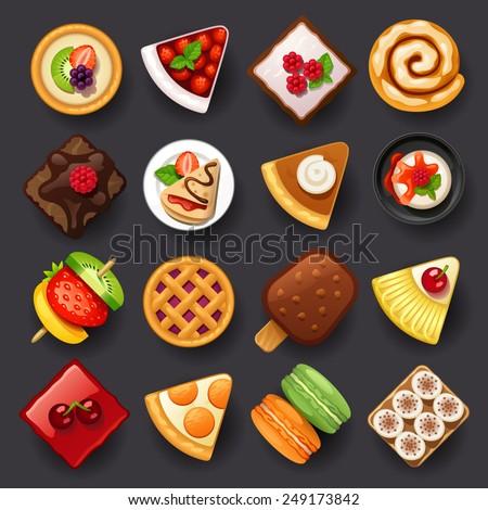 dessert icon set 2