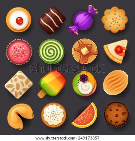 dessert icon set 3
