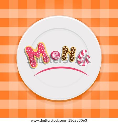 Dessert menu design