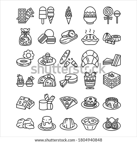 dessert outline icon. vector illustration. Isolated on white background. Stok fotoğraf ©