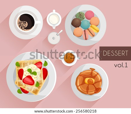 dessert   vector illustration