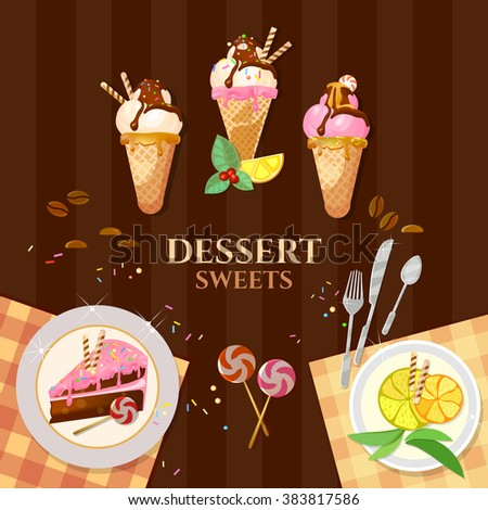 desserts and sweets ice cream