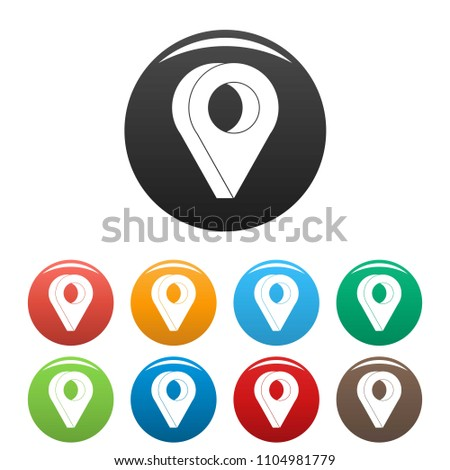 Destination icon. Simple illustration of destination vector icons set color isolated on white