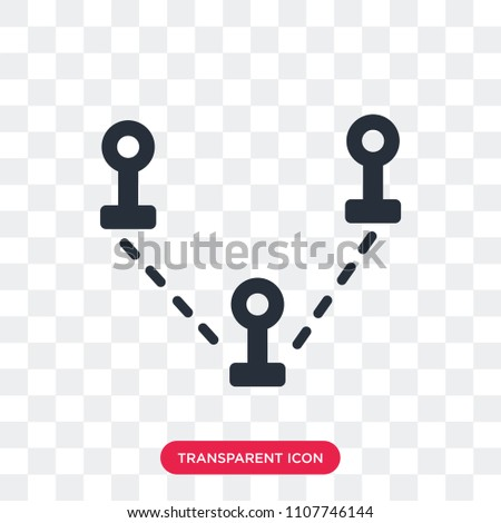 Destination vector icon isolated on transparent background, Destination logo concept