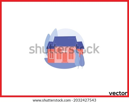 detached house abstract concept vector illustration. single family house stand alone household single detached building individual land ownership unattached dwelling unit abstract metaphor Stockfoto ©