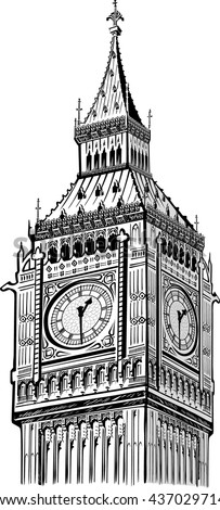 detail elizabeth tower  big ben