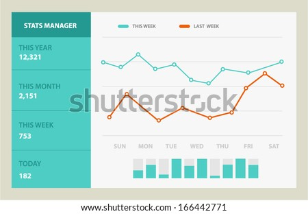 Detail info graphic vector illustration. Information Graphic  Chart