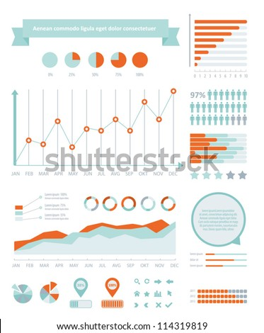 Detail info graphic vector illustration. Information Graphics elements