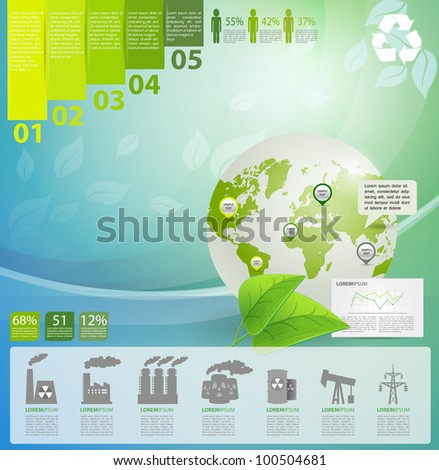 Detail infographic vector illustration with. Globe, industrial infographics and Information Graphics. Easy to edit countries