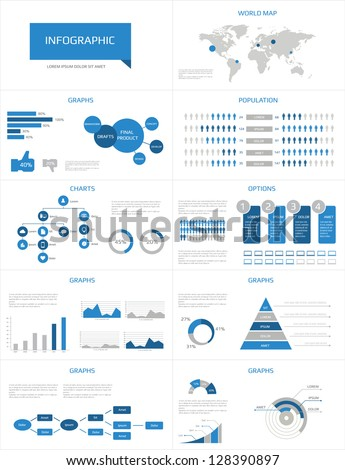 Detail infographic vector illustration. World Map and Information Graphics