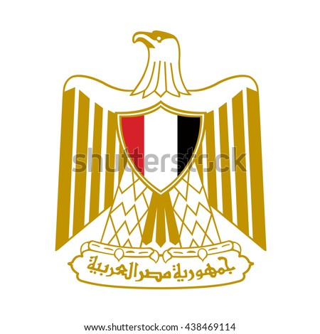 detail of egypt flag eps10