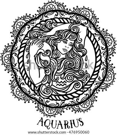 detailed aquarius in aztec