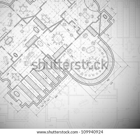 Detailed architectural plan. Eps 10