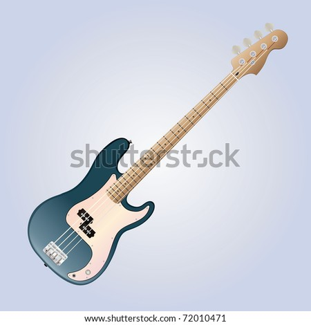 detailed bass guitar vector