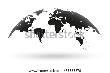 Globe vectors free vector art at vecteezy detailed black world map mapped on an open globe isolated on white background gumiabroncs Choice Image