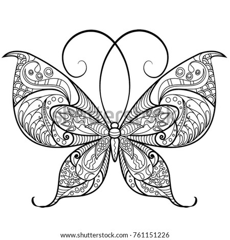Detailed Butterfly Drawing For Coloring Pages Ez Canvas - Detailed-butterfly-coloring-pages