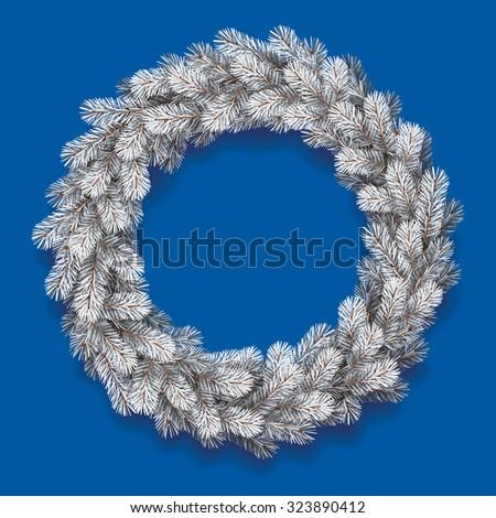 detailed christmas wreath