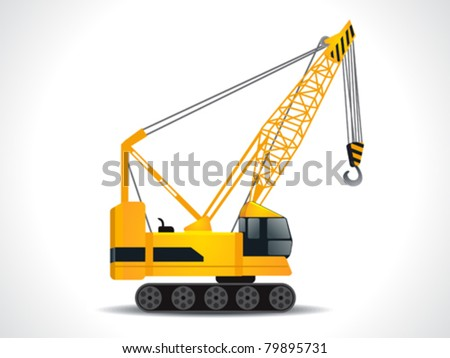 detailed crane vector illustration