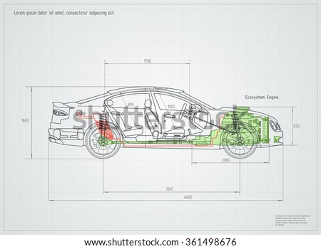 Car Engine Drawing - Download Free Vector Art, Stock Graphics & Images