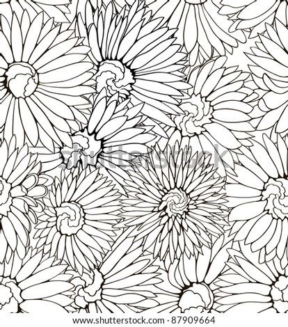 detailed floral pattern with