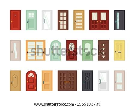 detailed front doors flat