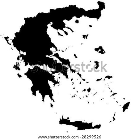 Detailed  Greece map vector outline