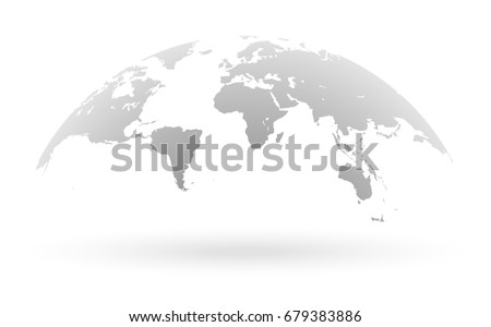 Free globus vector download free vector art stock graphics images detailed grey world map mapped on an open globe isolated on white background gumiabroncs Images
