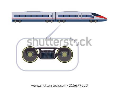 detailed high speed train on a