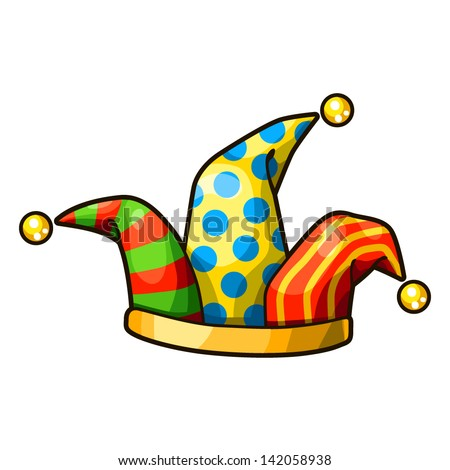 Detailed Icon. Jester hat isolated on white background