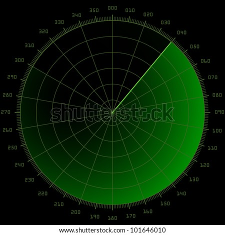 detailed illustration of a blank radar screen
