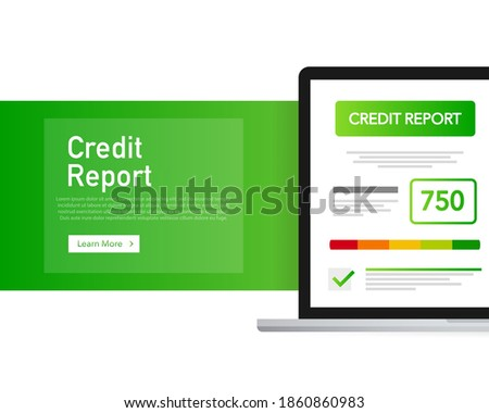 Detailed illustration of a credit score meter with pointer. Stock photo ©