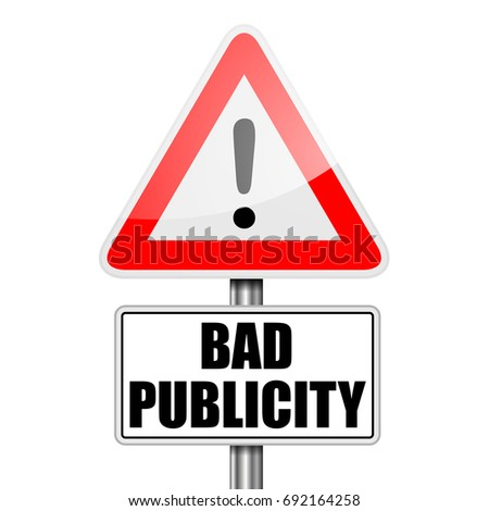 detailed illustration of a red attention Bad Publicity sign, eps10 vector