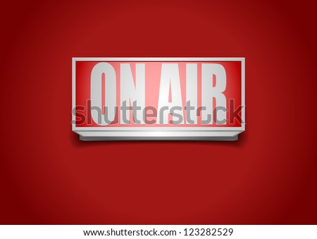 detailed illustration of a red on air sign