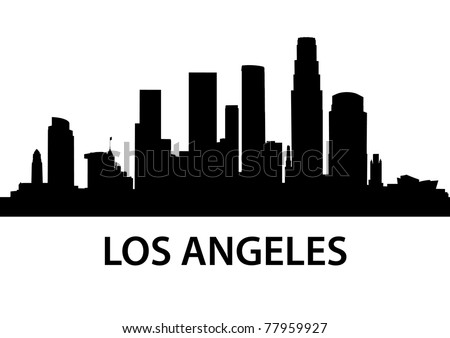 detailed illustration of Los Angeles, California