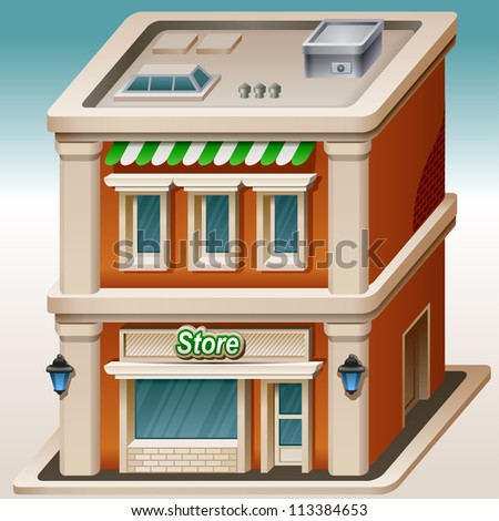 Detailed illustration of store icon