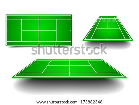 detailed illustration of tennis