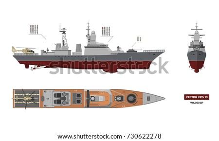 detailed image of military ship