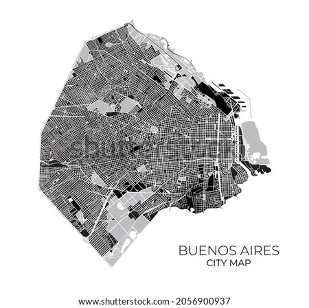 detailed isolated street map of