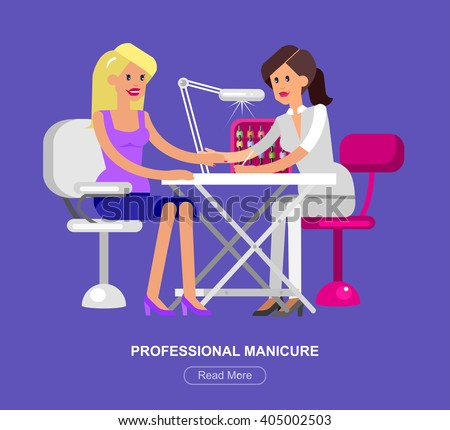 detailed manicurist character