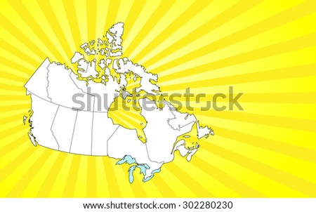 detailed map of canada with