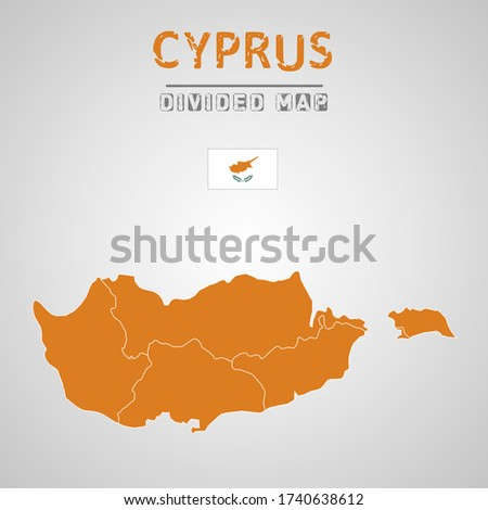 Detailed map of Cyprus with Regions. Map of Cyprus with States, Administrative division. Map of Cyprus with Regions.
