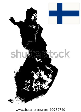 detailed map of finland with